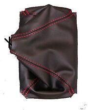 s'adapter HONDA CIVIC 88-91 SOUFFLET LEVIER DE VITESSE 100% CUIR surpiqure rouge