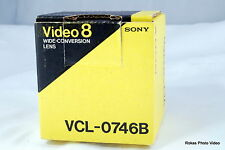 Genuine Sony Video 8 Wide-Conversion Lens VCL-0746B with Box for camcorder
