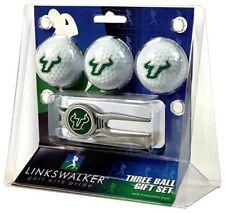 South Florida Bulls Kool Tool Divot Tool & 3 Team Logo USF Golf Balls Gift Set