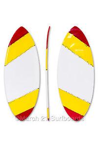 "52"" Epoxy EPS Skimboard Medium Pin Tail WYR Skim Surf"