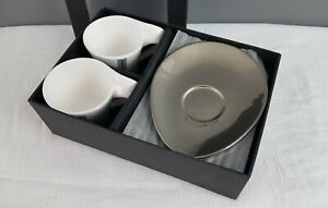 Set of two porcelane cups with saucers in the originale box