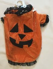 "Halloween DOG Costume PUMPKIN Outfit 13"" Length 16"" Neck 20"" Chest SMALL MEDIUM"
