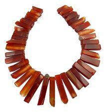 😏 Karneol Perlen quaderförmige Scheiben-Nuggets Collier Set Edelstein Strang 😉