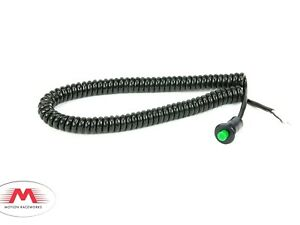 Motion Raceworks Momentary Small Push Button w/6' Wound Cord - Green