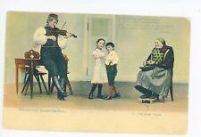 """Altenburger Bauerntrachten """"Peasant Dreams"""" AK Fiddle Waltz Dance NYC Posted"""