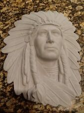 Ceramic Bisque Indian Chief Plaque, ClayMagic 1197, U-Paint, Ready to Paint