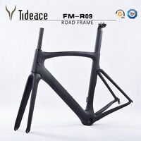 Road Racing Carbon Fiber 700C Bicycle Frames Aero 49/52/54/56/58cm Bike Frameset