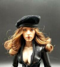 "1:6 Original Cy Girl Black Felt Beret Hat Cap 12"" BBI Phicen Kumik Hot Toy Body"