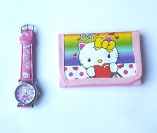 Hello Kitty Watch & Wallet Set Special Girls Birthday Party Christmas Gift