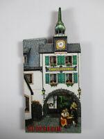 Rüdesheim Drosselgasse Hotel Lindenwirt Holz Souvenir Magnet,Germany Deutschland