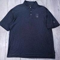 Nike Tiger Woods Golf Polo Shirt Mens XL Black Dri-Fit Short Sleeve P112
