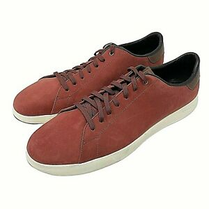 Cole Haan GrandPro Mens Shoes 14 Rust Brown Suede Lace Up Sneaker GRAND OS New
