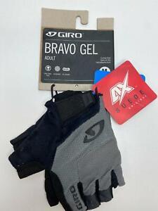 new Giro BRAVO GEL MEN'S bicycle GLOVES Charcoal MEDIUM
