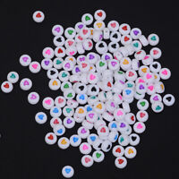 200pcs Loose Beads Round Spacer Mix Hearts Pattern Kid DIY Finding 4*7mm