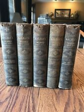 Antique BALZAC'S WORKS 6 VOL BOOK SET The Chesterfield Society LTD Edition