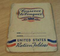 1940's WWII Homefront 'RATION Book/Stamp HOLDER' Danish Creamery FRESNO CALIF~