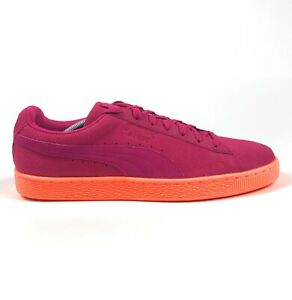 Puma Suede Classic Culture Surf Womens 12 Pink Orange Sneakers Shoes 362592-03