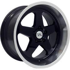 "18"" Black Mustang Saleen SC Replica Wheels Deep Dish 18x8.5 18x10 5x114.3 94-04"