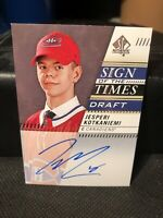 2019-20 SP AUTHENTIC JESPERI KOTKANIEMI AUTO SIGN OF THE TIMES DRAFT
