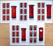 Gibraltar 2016 Mi. 1751-55 Kleinbogen ** MNH Briefkästen Pillar Boxes