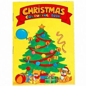 30 A6 Mini Christmas/Xmas Colouring Books Childrens Party Bags, School, Craft