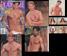 PLAYGIRL 4-02 APRIL 2002 ACTOR JAMIE GABEL UP! HAIRY FRENCH LUC & BLOND YVAN LFO