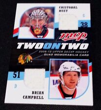 HUET CAMPBELL RINNE WEBER 2009-10 UD MVP Two On Two QUAD Game Used JERSEY