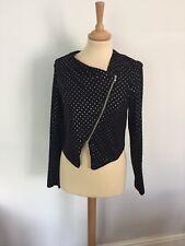 Designer Asymmetric Zip-front Jacket By ASOS. Size 8