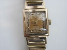 RARE Old Vintage Mechanical Men's Watch GUB Glashütte 1950's Germany Gold plated
