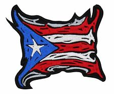PUERTO RICO FLAG TRIBAL EMBROIDERED PATCH