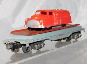 American Flyer 915 Gray base Auto unloading car chry RED Renwal Gas Tank truck S