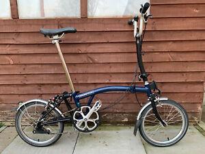 BROMPTON H3L BLUE BLACK FOLDING BIKE BICYCLE - WORLDWIDE POSTAGE