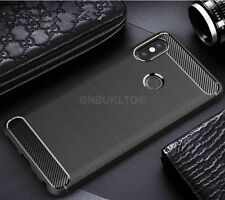 For Xiaomi Redmi Note 5 Pro Carbon Fibre Gel Case Cover Brushed Shockproof