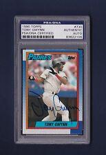 Tony Gwynn signed San Diego Padres 1990 Topps baseball card Psa