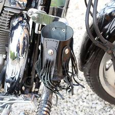 Motocicleta Biker Regalo Cuero Copa Bebida puede sostenedor de botella con remaches / Borlas