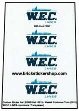 Precut Custom Stickers voor Lego 10219 - Maersk Train - WEC Containers