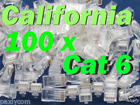 100 X pcs RJ45 Plug Cat6 Modular LAN Network Connector Internet Ethernet Cable E