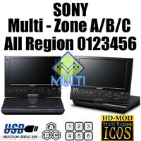 SONY SX910 PORTABLE ALL REGION CODE FREE BLU-RAY DVD PLAYER, 4.5Hrs Battery, USB