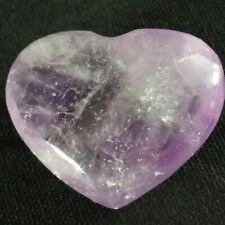 AMETHYST Crystal Heart Hand Craft URUGUAY LOVE Crystal Healing Valentine's Day