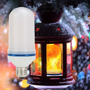 4 Modes LED Flicker Flame Effect Simulated Light Bulb E26 E27 Xmas Decor Lamp SS