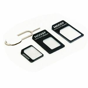 Nano SIM Card to MICRO Standard SIM Adopter converter SET For iPhone & Samsung