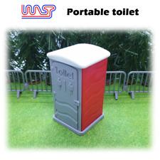 Portable Toilettes Rouge Fente Voiture Piste Scène X 1 Neuf 1:3 2 Echelle Guêpe