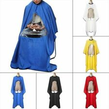 Barbers Cape Cloth Hair Cut Gown Hairdresser Transparent Waterproof View Window