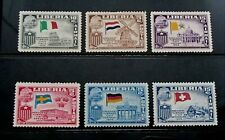 Liberia 6 x Mint Air Mail and Postage Stamps - Scarce - st102