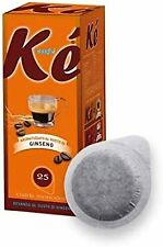 100 Cialde caffè KE' Molinari caffè aromatizzato al ginseng ESE 44 MM