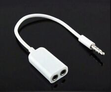 3.5 mm Earphone Headphone Y Splitter Cable Adapter Jack Male To Double Female