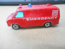 Vintage Tomica Scale 1:78 Diecast Emergency Rescue 5 Chevrolet Chevyvan No.F22