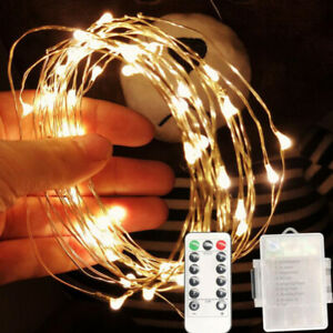 LED Copper Wire String Lights Remote Control Christmas Day Decoration Lantern
