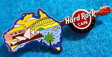 SYDNEY 2018 OPERA HOUSE HARBOUR BRIDGE & COUNTRY MAP GUITAR Hard Rock Cafe PIN
