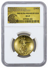 2009 $20 Liberty Ultra High Relief 1 Oz Gold NGC MS69 Mint State 69 SKU20884